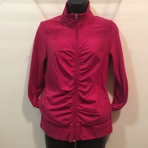 Lucy zip-up long sleeve work out jacket size Small